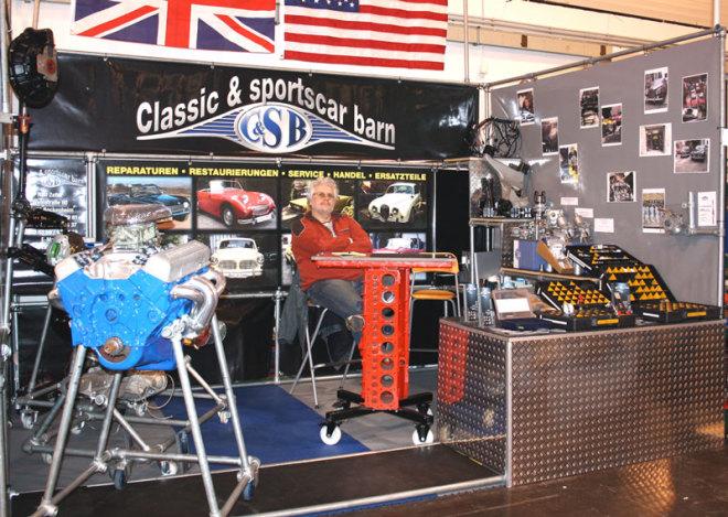 Messestand Classic Sportscar Barn