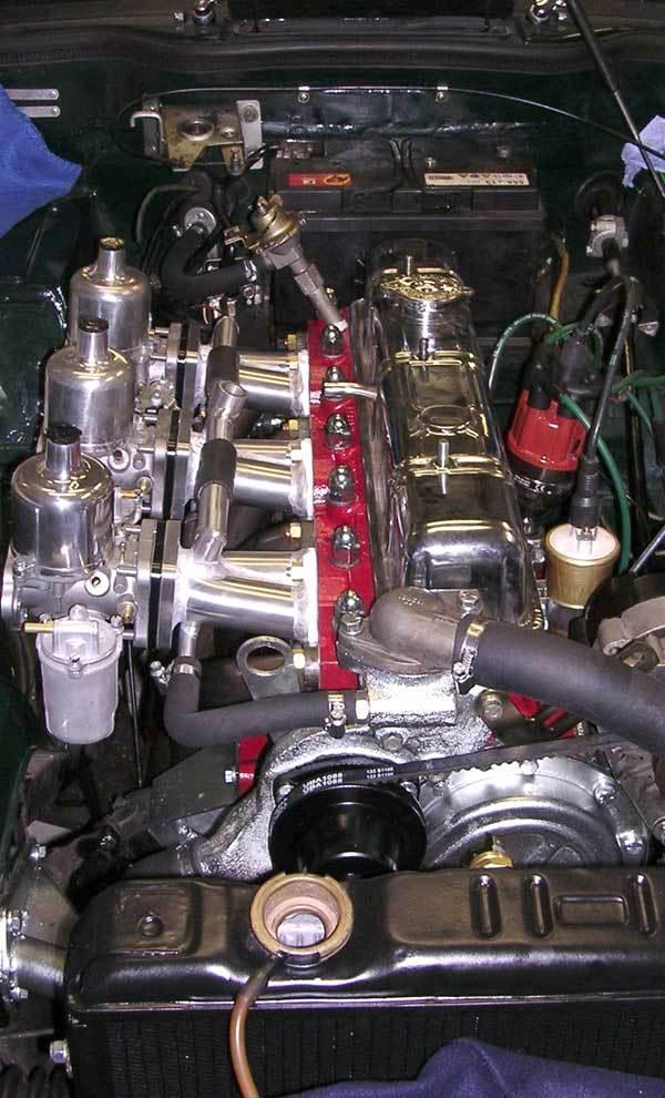 Motorblock eingebaut