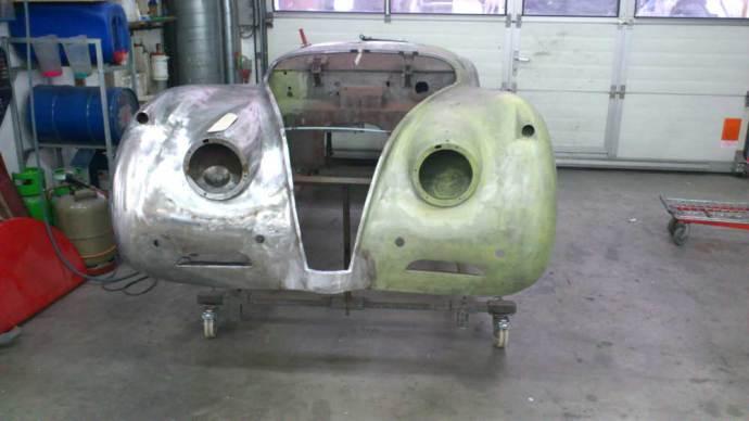 Jaguar XK 120 Karosserie vorher
