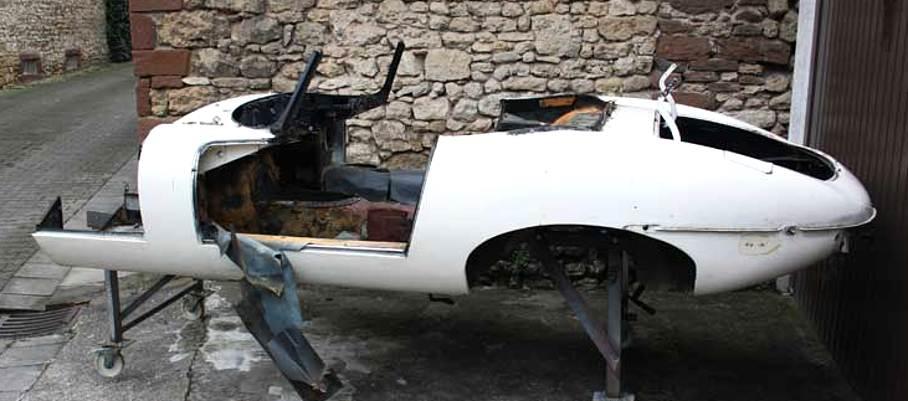 Jaguar E Type Karosserie seitlich